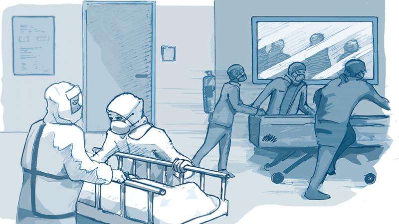 विराट मेडिकल शिक्षण अस्पतालको उपचारमा खटिएका चिकित्सक र स्वास्थ्यमाथी हातपात