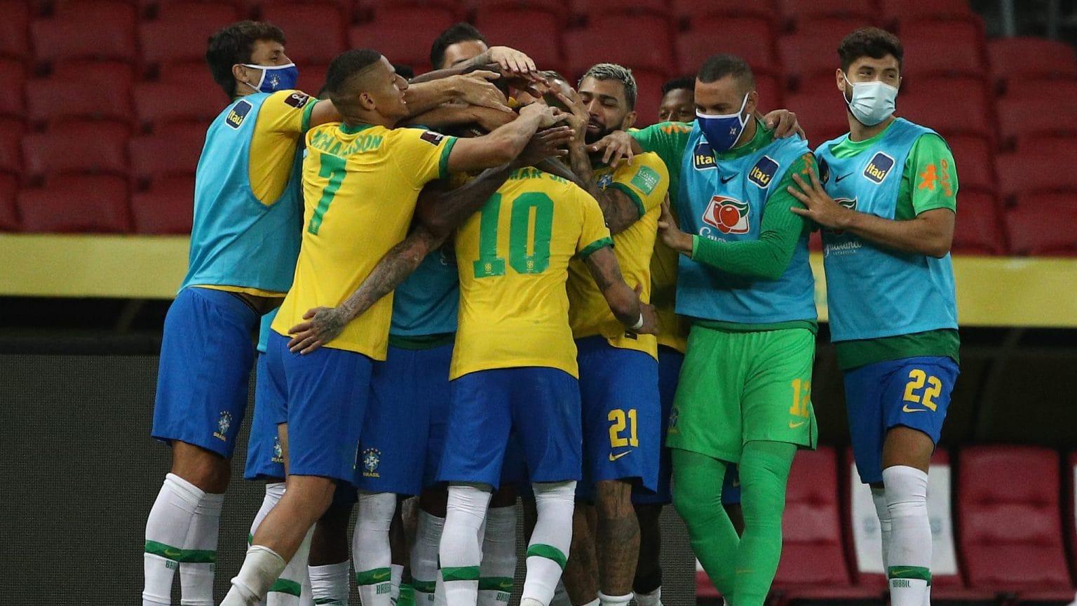 विश्वकप फुटबल २०२२ को छनौटमा ब्राजिलको लगातार पाँचौँ जित
