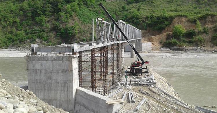 कालीगण्डकी दोहनले मालढुङ्गाको पुल जोखिममा