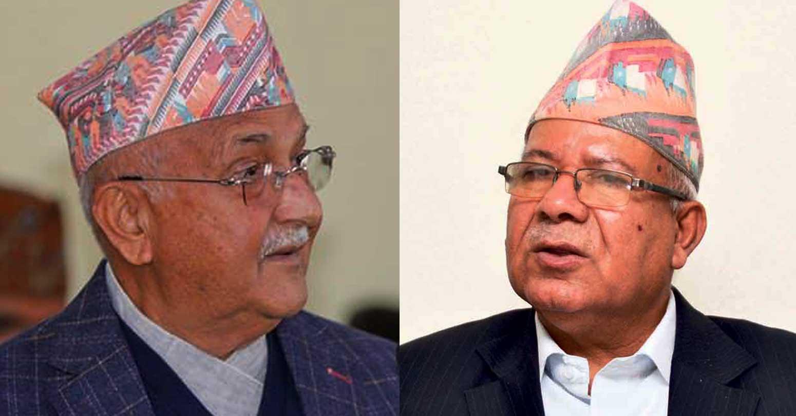 दुईधारमा विभाजित एमाले विवाद समाधानका लागि दोस्रो तहका नेता सक्रिय, ओली-नेपालबीच छिट्टै वार्ता
