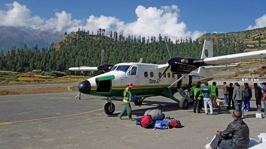 वर्षाका कारण हुम्लामा पाँच दिनदेखि हवाई सेवा अवरुद्ध